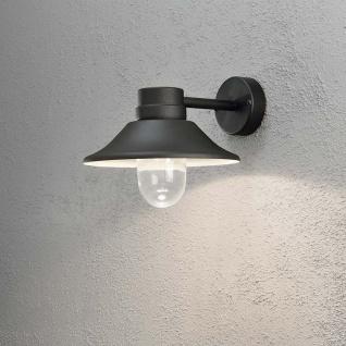Konstsmide 412-750 Vega LED Aussen-Wandleuchte / 700lm, 3000K / Schwarz, klares Glas