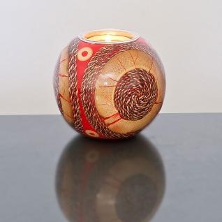 Holländer 260 3601 Kugelleuchter Gioiello Kunstharz-Naturmaterialien Rot-Sand