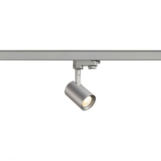 SLV Debasto 7W LED COB Spot inkl. 3P.-Adapter rund 3.000K Silbergrau 152954