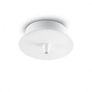 Baldachin Rosone Metallo 1 Luce Weiß