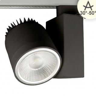 3-Phasen Power-LED Strahler 3400lm 35W 3000K warm Schwarz