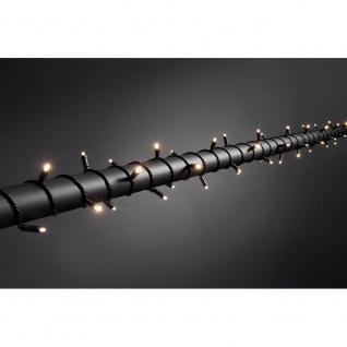 Konstsmide 6622-117 Micro LED Lichterkette mit Dimmer schutzisoliert/umgossen IP67 120 warmweisse Dioden 24V Außentrafo schwarzes Soft-Kabel