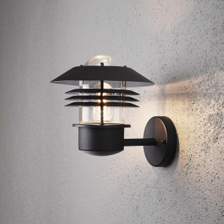 Konstsmide 7302-750 Modena Aussen-Wandleuchte Schwarz klares Glas