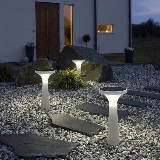 Solar LED Dekoleuchte Assisi Aton 45cm Weiß Solar Gartenlampe Gartenleuchte