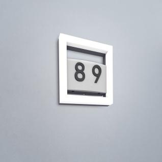 Lutec Alice LED-Außenwandleuchte mit Hausnummer IP44 800lm Anthrazit 5194301118