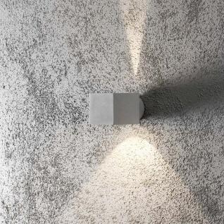 Konstsmide 7341-300 Modena Square Aussen-Wandleuchte Grau klares Glas