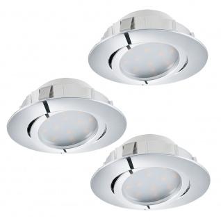 Eglo 95852 Pineda LED Einbaustrahler 3er-Set 3 x 500lm Chrom