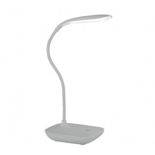 Wofi Collo LED Tischleuchte Silber Tischlampe