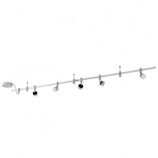 Eglo 94418 Vilanova 1 LED System 5 x 45 W Alu Stahl alu Chrom Alu Nickel-Matt Schwarz