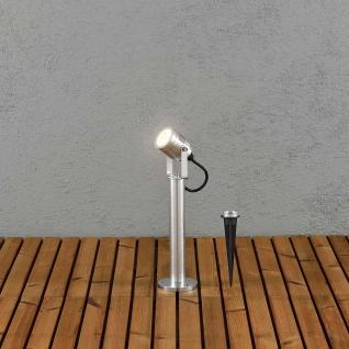 Konstsmide 7918-310 Monza LED Strahler-Sockelleuchte 51cm schwenkbar massives Aluminium