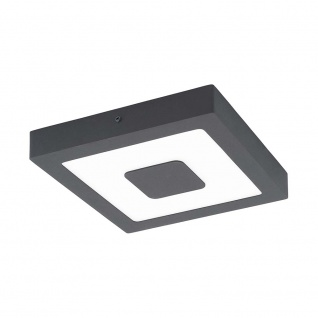 LED Aussen-Deckenleuchte Iphias 22, 5 x 22, 5cm Anthrazit