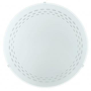 Eglo 93276 LED Twister LED Wand- & Deckenleuchte Ø 31, 5cm Motiv Linien Weiß
