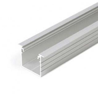 Einbauprofil tief 200cm Alu-roh ohne Abdeckung für LED-Strips