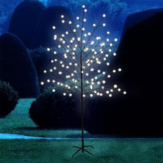 Garten LED-Baum Stehleuchte 160cm Garten Dekobaum mit 128 LED Warmweiß