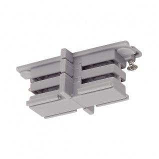 SLV Mini-Verbinder für S-Track 3P.-Schiene isoliert Silbergrau 175084