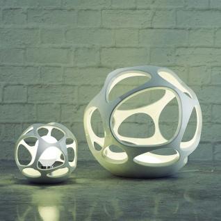 Mantra Runde Tischlampe Organica Weiß