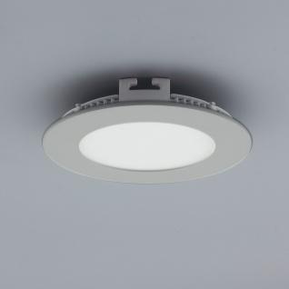 Licht-Design 30543 Einbau LED-Panel 480 Lumen Dimmbar / Ø 12 cm / Warm / Silber