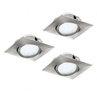 Eglo 95846 Pineda LED Einbaustrahler 3er-Set 3 x 500lm Nickel-Matt