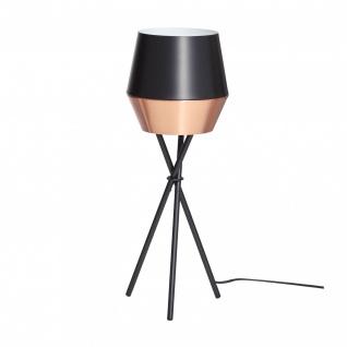 s.LUCE LED Tischleuchte SkaDa Ø 20cm Kupfer Schwarz Nachttischleuchte Tischlampe - Vorschau 1