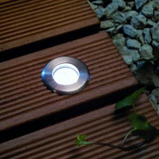 LED-Einbauleuchte Gordo IP66 rund 10cm Edelstahl