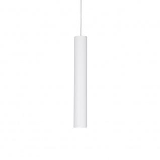Ideal Lux 104935 Look Pendelleuchte Zylinder Ø 6cm Weiß
