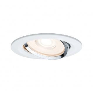 Paulmann Premium EBL Set Reflector Coin dimmbar LED 3x6, 8W Weiß Chrom Alu 93942