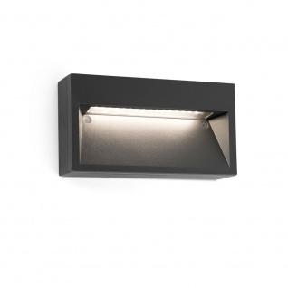 LED Außen-Aufbaulampe PATH 3000K IP44 Dunkelgrau