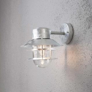 Konstsmide 7310-320 Modena Aussen-Wandleuchte galvanisierter Stahl klares Glas