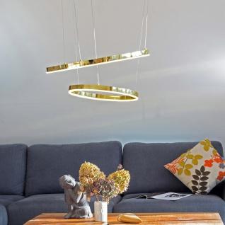 s.LUCE pro Ring S LED-Hängeleuchte Ø 40cm Gold Dimmbar Wohnzimmer Hängelampe LED-Ring