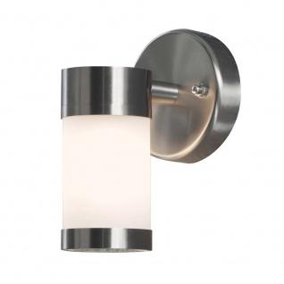 Konstsmide 7593-000 Modena Aussen-Wandleuchte Edelstahl opales Glas