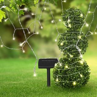 LED Solarleuchte Solarpanel Schwarz Solar Gartenlampe Gartenleuchte - Vorschau