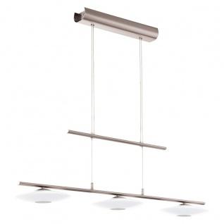 Eglo 94425 Milea 1 LED Hängeleuchte 3 x 45 W Stahl Nickel-Matt Glas Weiß lackiert