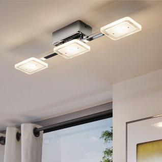 Eglo 94155 Cartama LED Deckenleuchte 3 x 45 W Stahl Chrom Kunststoff klar satiniert