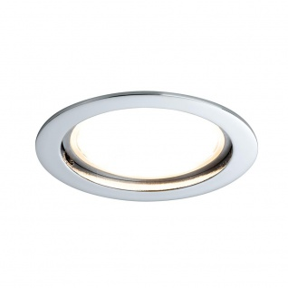 Paulmann Premium EBL Set Coin sat rund starr LED 1x14W 2700K 230V 75mm Chrom/Alu Zink