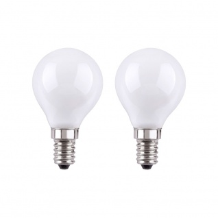 LeuchtenDirekt 08173-2 E14 LED Tropfenlampe 180lm 300° 2W