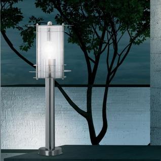 Miami Außen-Sockelleuchte 1-flammig 45cm Edelstahl Pollerlampe Sockellampe