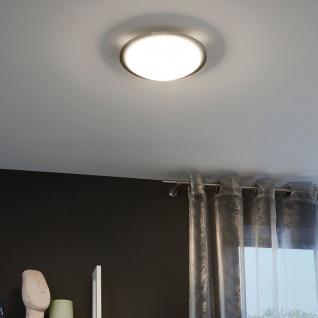 Eglo 31254 LED Planet LED Wand- & Deckenleuchte Ø 29cm Weiß Klar Nickel-Matt