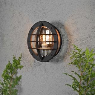 Konstsmide 516-750 Oden Aussen-Wandleuchte mit integrierter Steckdose Schwarz opales Acrylglas