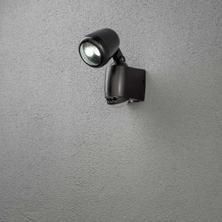 Konstsmide 7693-750 Prato Batterie LED Wandaufbauleuchte mit Bewegungsmelder 12V Schwarz