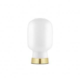 Normann Copenhagen Tischlampe Amp im Skandi-Look Weiß Messing Tischleuchte