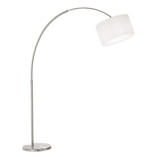 Kolarz Klassische Bogenlampe Sand 160cm Weiß, Nickel-Gebürstet