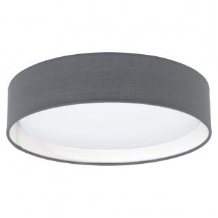 Eglo 31592 Pasteri / Deckenleuchte / Kunststoff Stahl Weiss Textil Grau