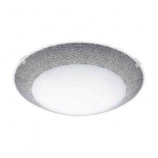Eglo 95668 Magitta 1 LED Deckenleuchte Ø 25cm 820lm Weiß Schwarz