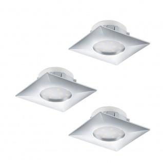 Eglo 95802 Pineda LED Einbaustrahler 3er-Set 3 x 500lm Chrom