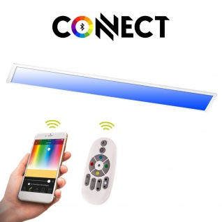 Connect LED-Panel 120x30cm 4300 Lumen 34W RGB+CCT LED Deckenlampe Deckenleuchte