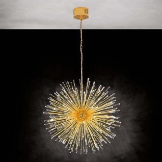 Eglo 39256 Kristall LED Hängeleuchte Vivaldo 1 Vergoldet Klar