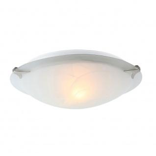 Globo 4070 Fred Deckenleuchte Nickel-Matt Glas alabaster Optik Weiß 60W E27230V