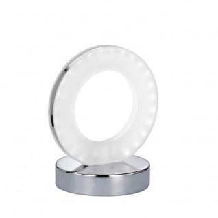Wofi Puristische LED Tischleuchte OLE mit Schalter Chrom 808101015000
