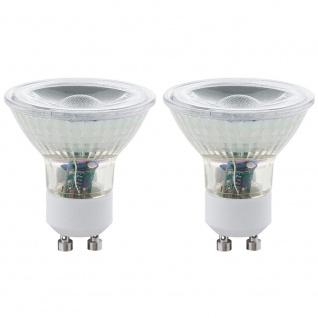 Eglo 11475 GU10 LED Spot 2er-Set 3W 240lm Warmweiß LED Leuchtmittel