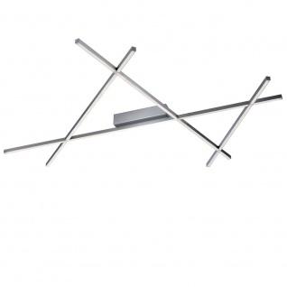Licht-Trend Tramos LED Deckenleuchte 38W LED dimmbar mit Fernbedienung Alu-matt Deckenlampe